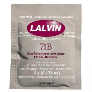 Дрожжи винные LALVIN 71B, 5г.