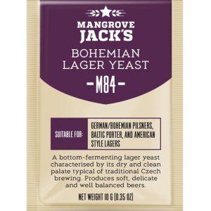 Дрожжи пивные Mangrove Jack's BOHEMIAN Lager M84, 10г.