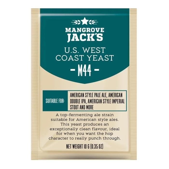 Дрожжи пивные Mangrove Jack's U.S. WEST Coast M44, 10г.