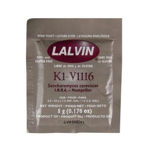 Дрожжи винные LALVIN V1116, 5г.