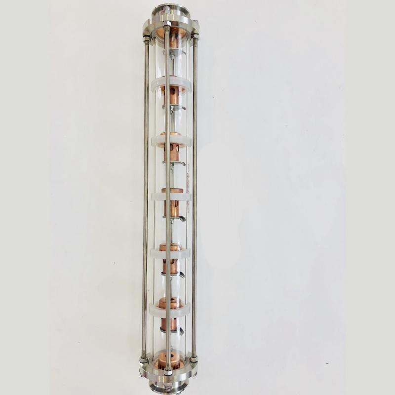 """Колпачковая колонна 1,5""""  нерж (5 уровней 6 тарелок) Доброгон"""