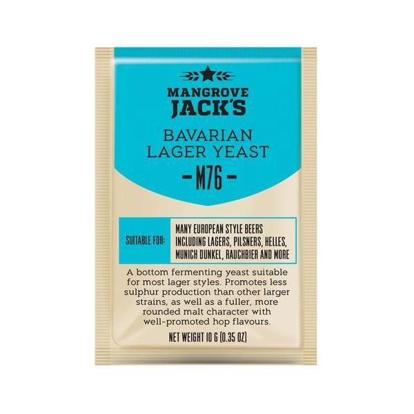 Дрожжи пивные Mangrove Jack's BAVARIAN Lager M76, 10г.
