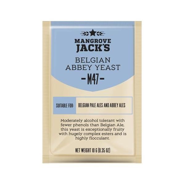 Дрожжи пивные Mangrove Jack's BELGIAN Abbey M47, 10г.