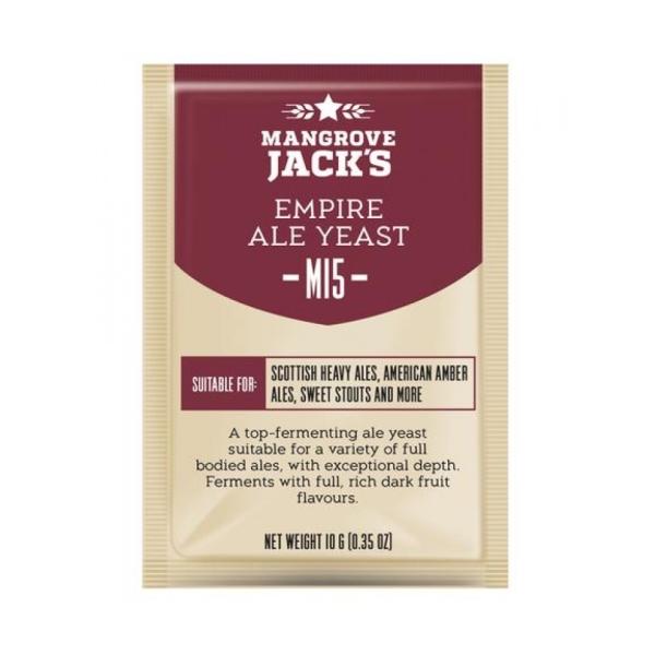 Дрожжи пивные Mangrove Jack's Empire Ale M15, 10г.