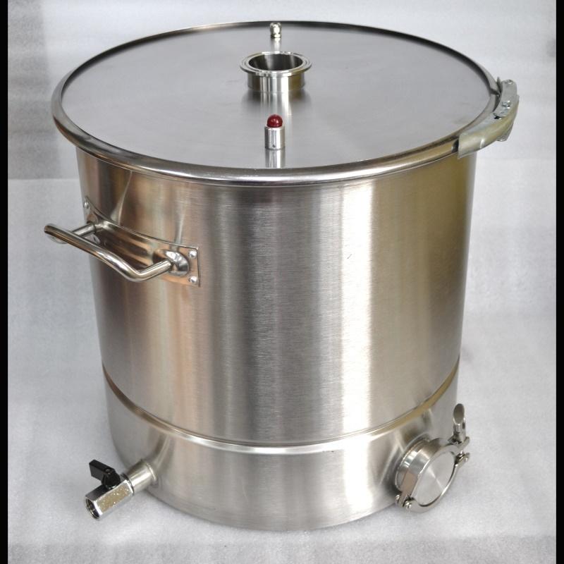 Куб 50л+зиговка +отвод 1/2+отвод 2″ под ТЭН+обруч+прокладка+диск кламп 2″
